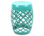 "19"" Turquoise Lattice Garden Table"
