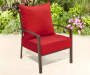 2 PC DEEP SEAT CUSHIONS RED