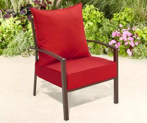 Red Deep Seat Amp Back Cushion Set Big Lots