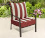 2 PC RED CABANA STRIPE DEEP SEAT CUSHION SET