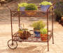2-Tier Planter Cart on patio with plants