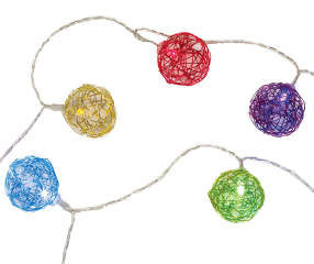 Globe String Lights Big Lots : Wilson & Fisher Multi-Color LED Battery Operated Globe Light Set, 20-Count Big Lots