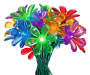20 Count Multicolored Solar Flower Light Set Bouquet