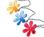 20 Count Multicolored Solar Flower Light String Set Silo