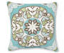 20 IN AQUA CORTES MEDALLION TOSS PILLOW