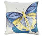 20 IN BLUE BUTTERFLY TOSS PILLOW