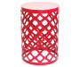 "20.5"" Red Lattice Garden Table"