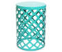 "20.5"" Turquoise Lattice Garden Table"