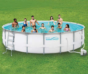 Summer Waves Elite Metal Frame Pool 20 Big Lots