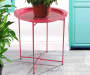 22 IN RED ROUND TRAY TABLE