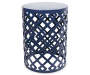 22in Navy Blue Metal Garden Table silo front