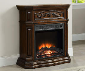 28 Quot Cherry Petite Foyer Electric Fireplace Big Lots