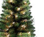3 Foot Traditions Pre Lit Cashmere Artificial Christmas Tree Close Up Detail Silo Image