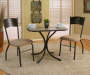 3 Piece Coffee Cup Bistro Set with Two Chairs and Decorated Table in Room Setting