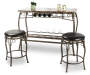 3 Piece Counter Height Marque Bar Set with Decor Pieces Silo Image