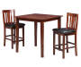 3 Piece Pub Set with Two Chairs and Table on White Background