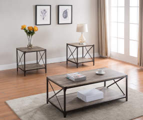 3 Piece Rustic Occasional Tables Big Lots