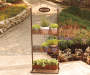 3-Tier Welcome Décor Garden Shelf on patio
