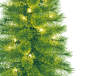 3.5 Foot Dancer Pre Lit Cashmere Artificial Christmas Tree in Brown Urn 2 Pack Close Up Detail Silo Image