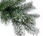 3.5 Foot Dasher Flocked Pre Lit Artificial Christmas Tree in Brown Urn 2 Pack Close Up Detail Silo Image