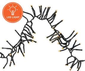 Garland Cluster String Lights 300 Count : Winter Wonder Lane Warm White LED Garland Cluster Light Set, 300-Count Big Lots