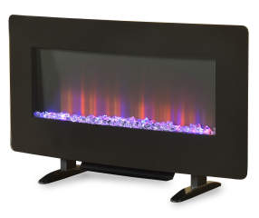 36 Quot Color Changing Wall Mount Electric Fireplace Big Lots
