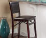 37 inches Espresso Padded Folding Barstool lifestyle