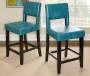 38 inches Blue Open Back Barstool lifestyle