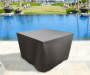 39 inches Brown Square Fire Pit Cover lifestyle