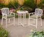 3PC BERRY POINT BISTRO SET WHITE