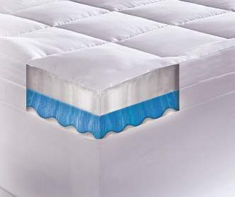 Sertarest 4 Quot Gel Memory Foam King Mattress Topper Big Lots