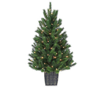 online only - Glass Christmas Tree With Lights