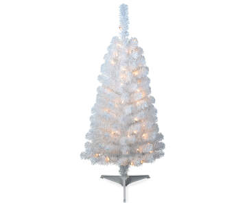 1800 - White Outdoor Christmas Tree