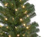 4 Foot Yuletide Green Pre Lit Artificial Christmas Tree with Clear Mini Lights Close Up Detail Silo Image