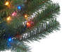 4 Foot Yuletide Green Pre Lit Artificial Christmas Tree with Multi Color Lights Close Up Detail Silo Image