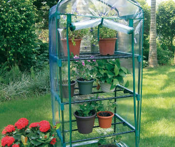 Flower pots planters outdoor big lots for Walk in greenhouse big lots
