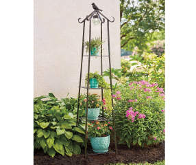 Wilson Amp Fisher 4 Tier Bird Solar Globe Light Plant Stand