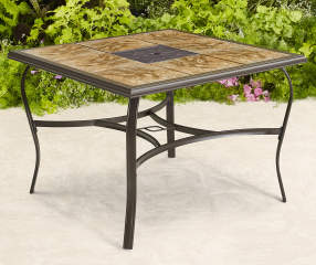 Wilson Amp Fisher 40 Quot Square Tile Top Patio Table Big Lots