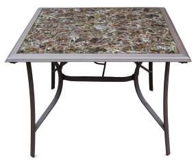 Wilson fisher portofino 40 printed glass patio table big lots watchthetrailerfo