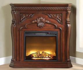 42 Quot Cherry Corner Electric Fireplace Big Lots