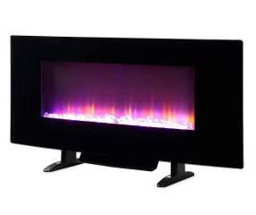 42 color changing led wall mount electric fireplace big lots. Black Bedroom Furniture Sets. Home Design Ideas