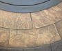 43 Inch Santa Fe Round Gas Fire Pit with Concret Stone Table Close Up Shot