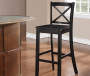43 inches Black X Back Barstool silo front