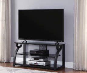 44 Quot Metal Amp Glass Curved Tv Stand Big Lots