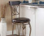 45 inches Traditional Fleur De Lis Swivel Barstool lifestyle