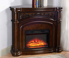 48 Quot Cherry Corner Electric Fireplace Big Lots