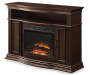 48 Inch Media Fireplace Angled Silo Image