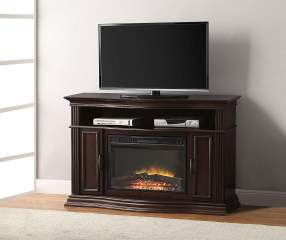 48 Quot Cherry Console Electric Fireplace Big Lots