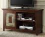 48 Inch Slate Door TV Stand with TV and Components Room View