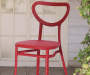 4PK RED EDINA II STACKING CHAIRS